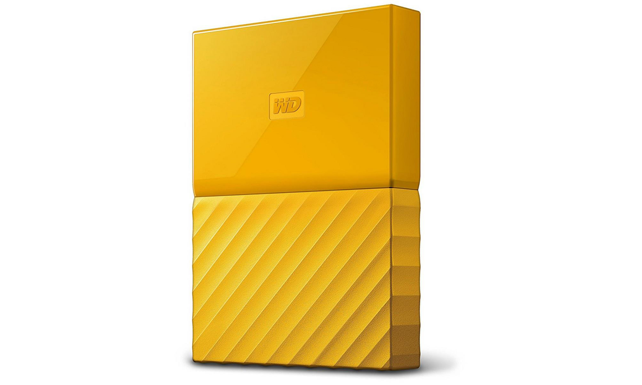 WD My Passport 4TB żółty USB 3.0  Widok Z Przodu