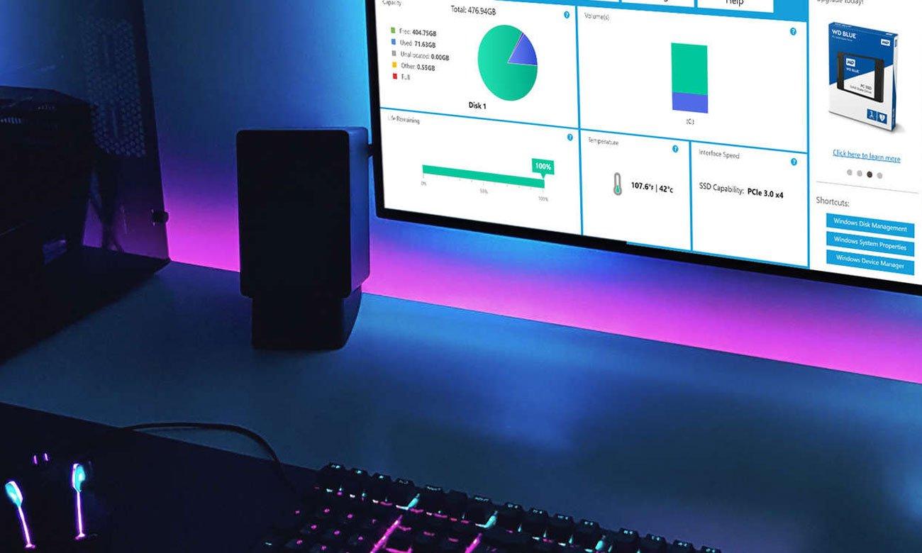 WD Black NVMe SSD Acronis True Image WD Edition Twoje centrum dowodzenia