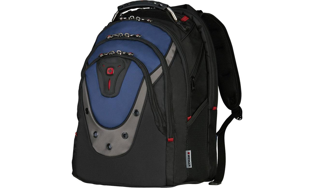 Plecak na laptopa Wenger Ibex czarno - niebieski 17'' 600638