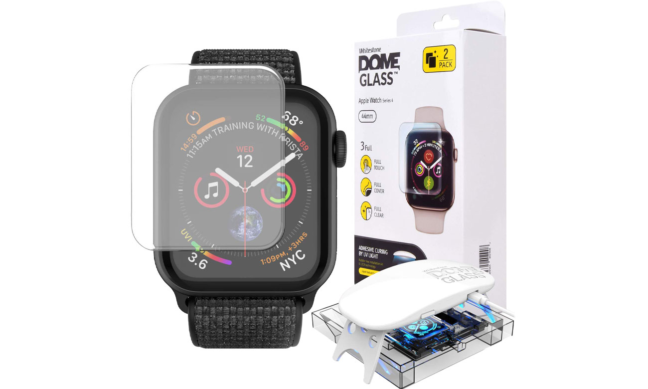 Szkło Hartowane Whitestone Dome Glass do Apple Watch 4 (44mm) 8809365402991