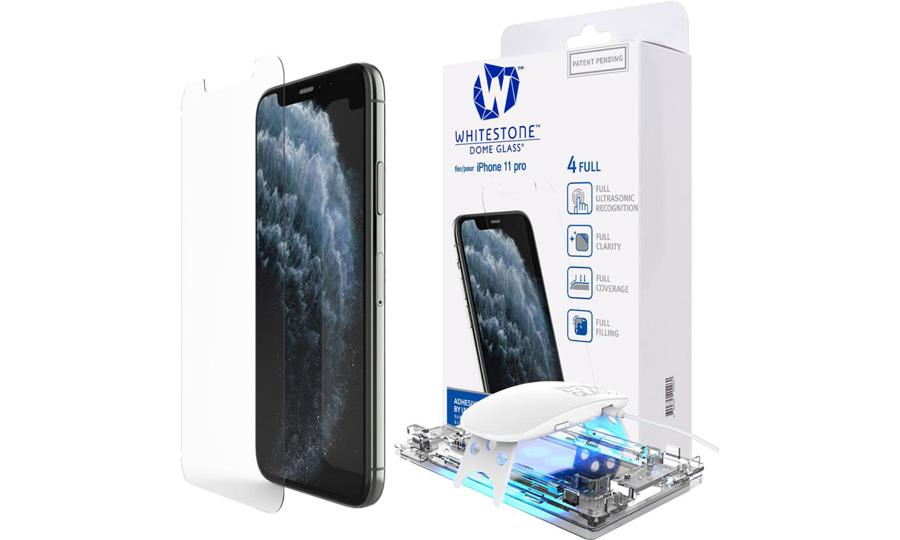 Szkło Hartowane Whitestone Dome Glass + UV do iPhone 11 Pro 8809365403813