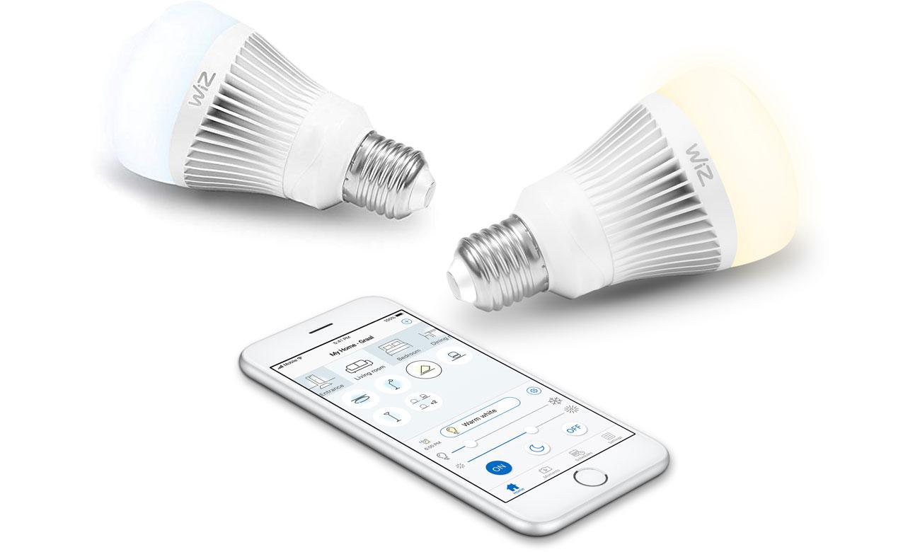 Inteligentne oświetlenie WiZ Whites LED (E27/806lm) 2szt. WZ0126072