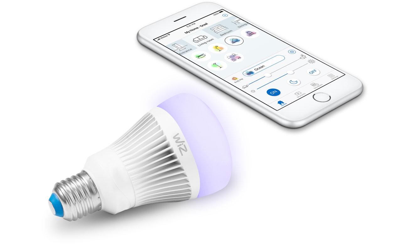 Inteligentne oświetlenie WiZ Colors RGB LED (E27/806lm) WZ0126081