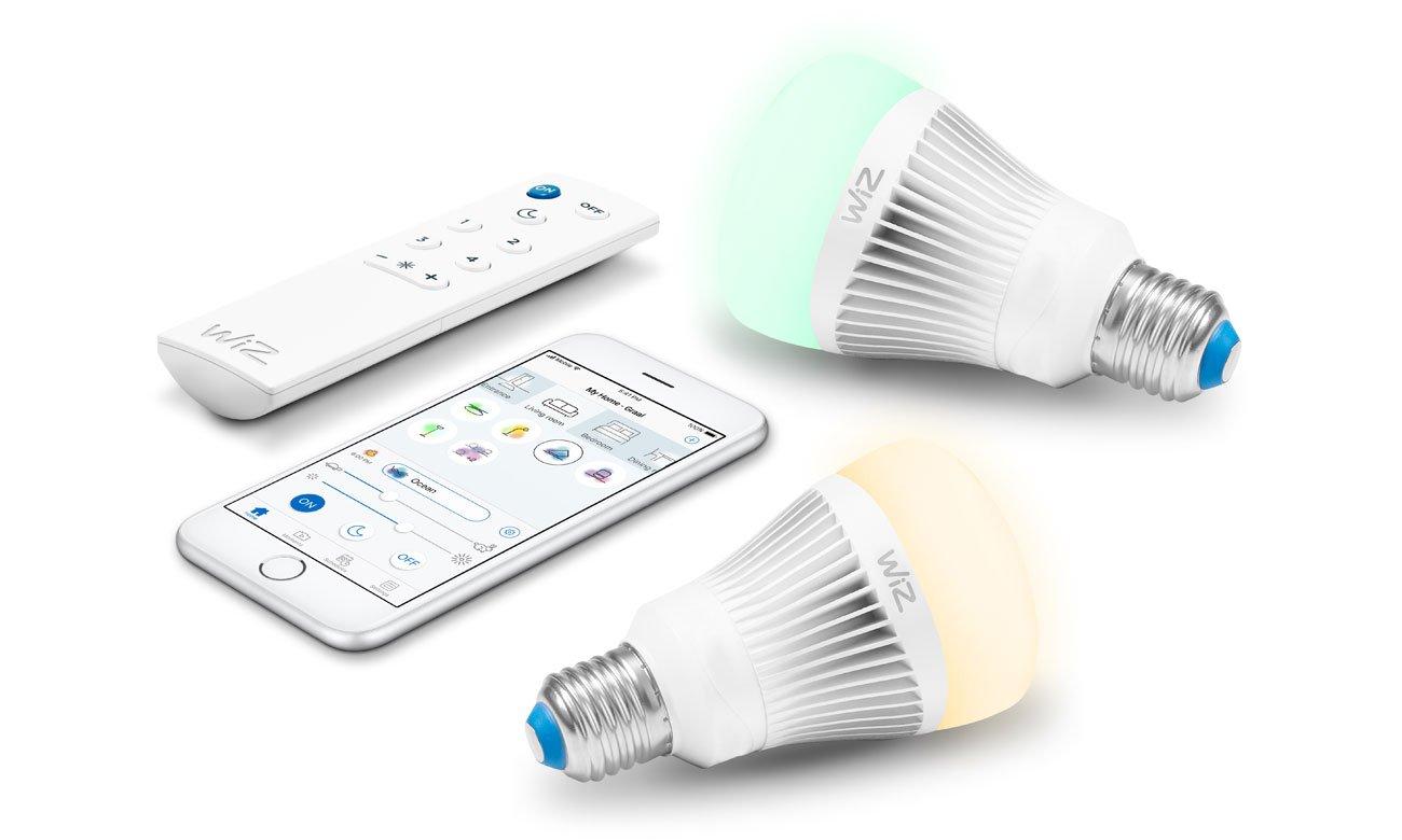 Oświetlenie WiZ Colors RGB LED (E27/806lm) 2szt.+pilot WZ0126082