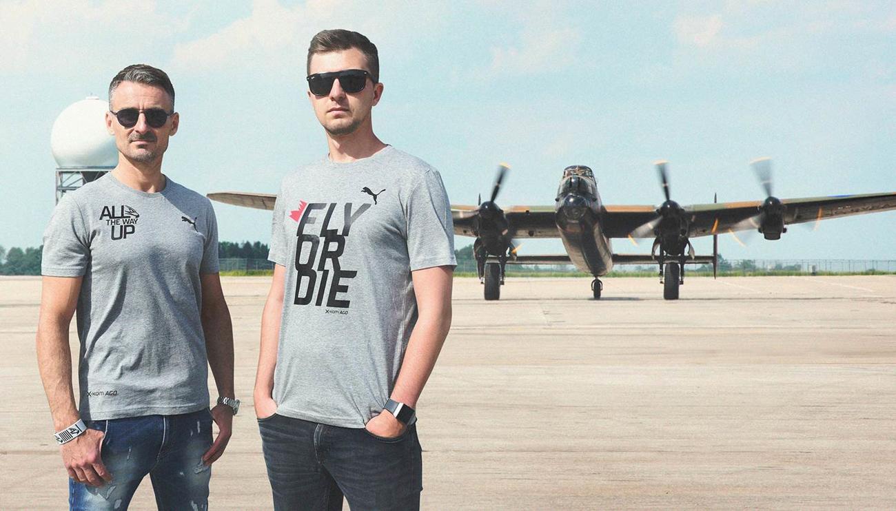x-kom AGO koszulka lifestyle FLY OR DIE rozmiar S