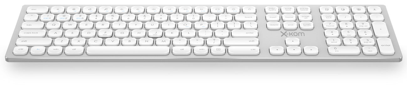 Klawiatura x-kom Aluminium Wireless Keyboard Biała