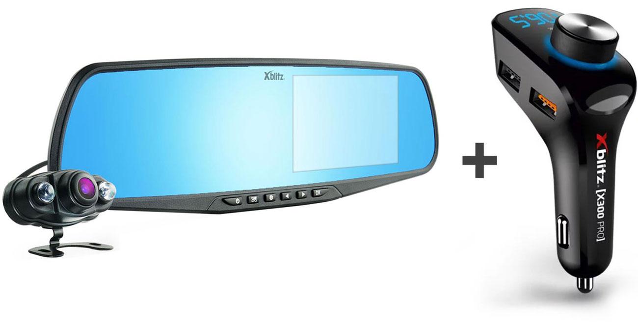 Wideorejestrator Xblitz Park View Full HD + zestaw Xblitz X300 PRO
