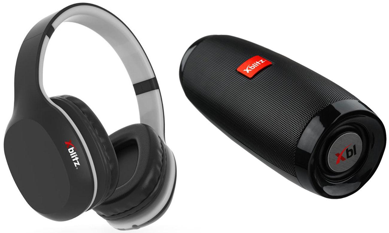 Zestaw Xblitz słuchawki bezprzewodowe + przenośny głośnik