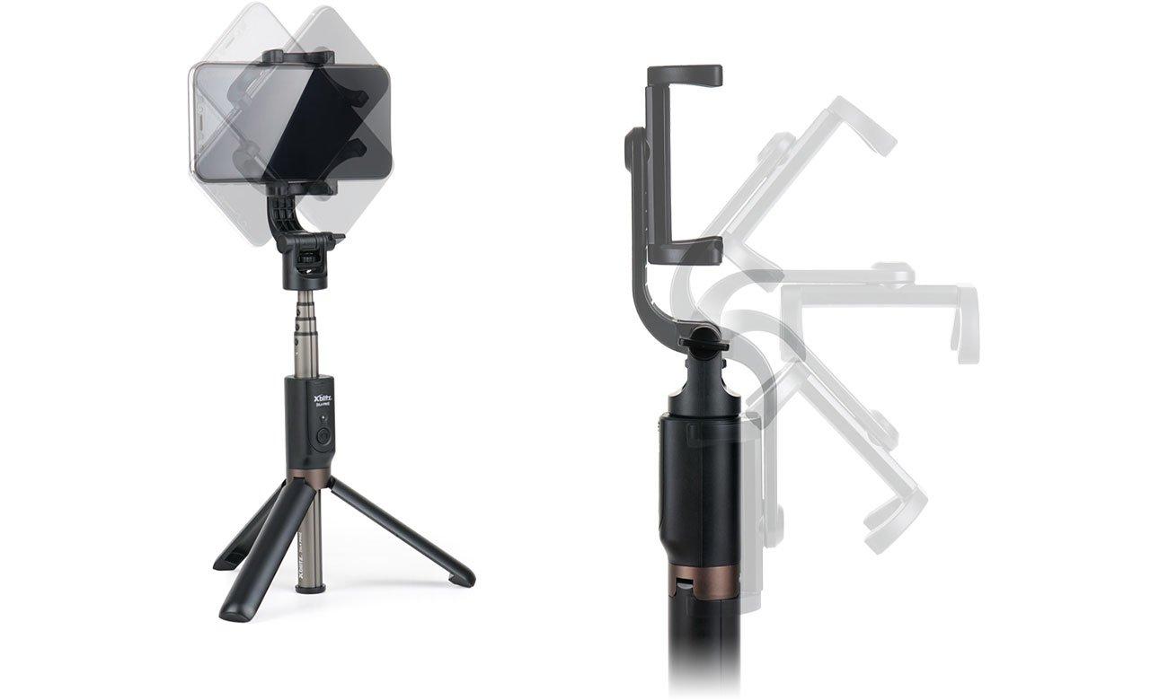 Selfie Stick Xblitz SL4 PRO Mocowanie smartfona z regulacją