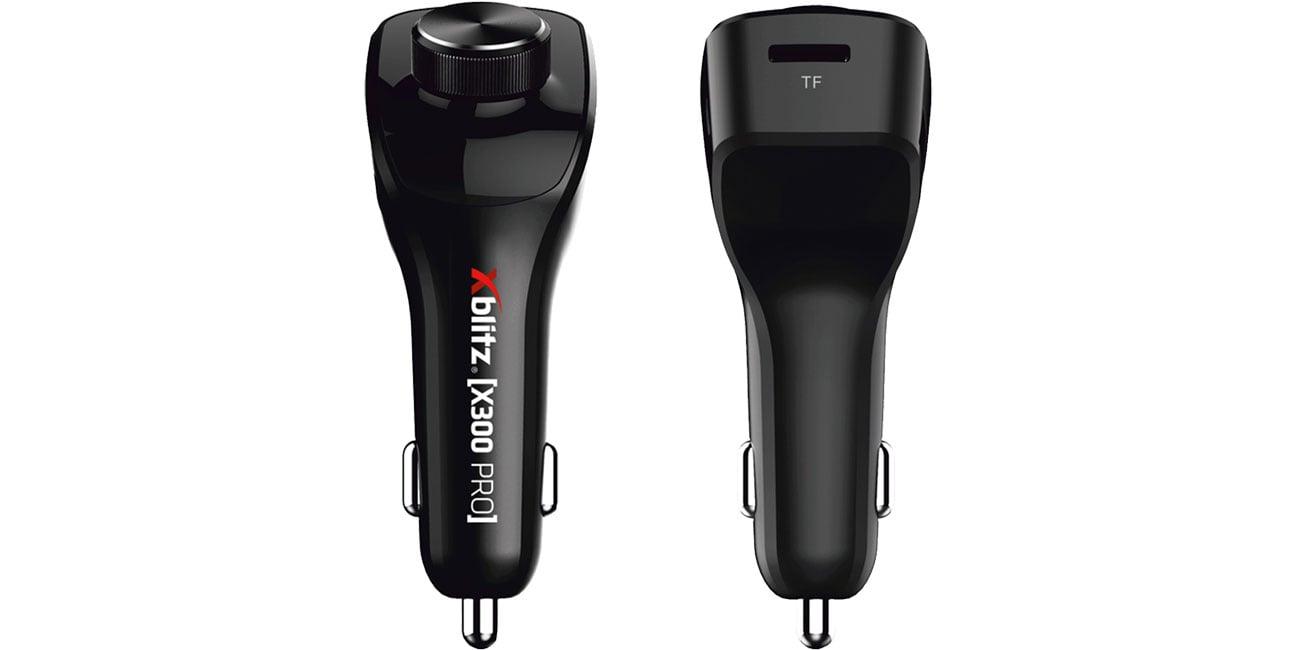 Xblitz X300 Pro Przód, tył - pokrętło, slot microSD