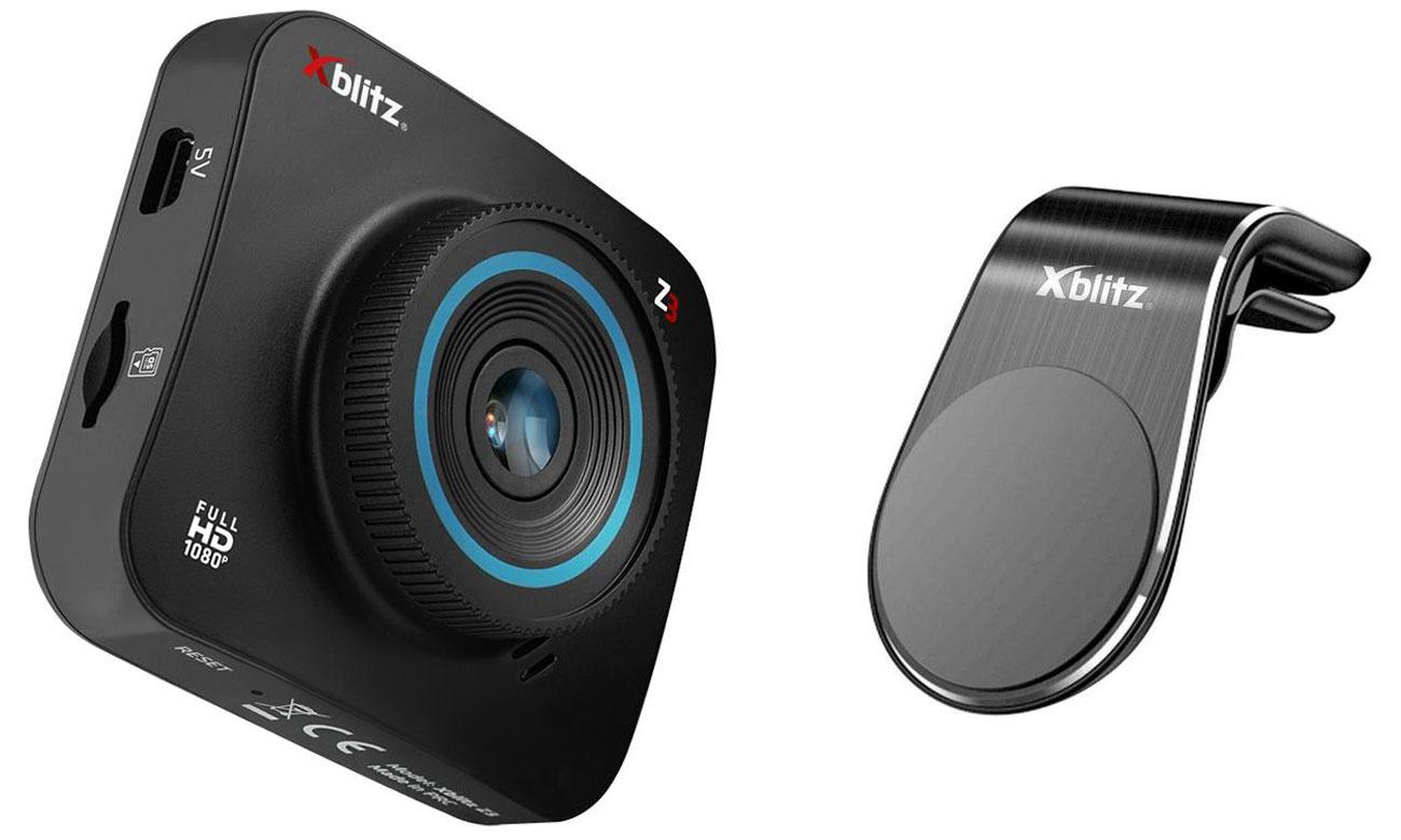 Wideorejestrator Xblitz Z3 + uchwyt magnetyczny Xblitz G155