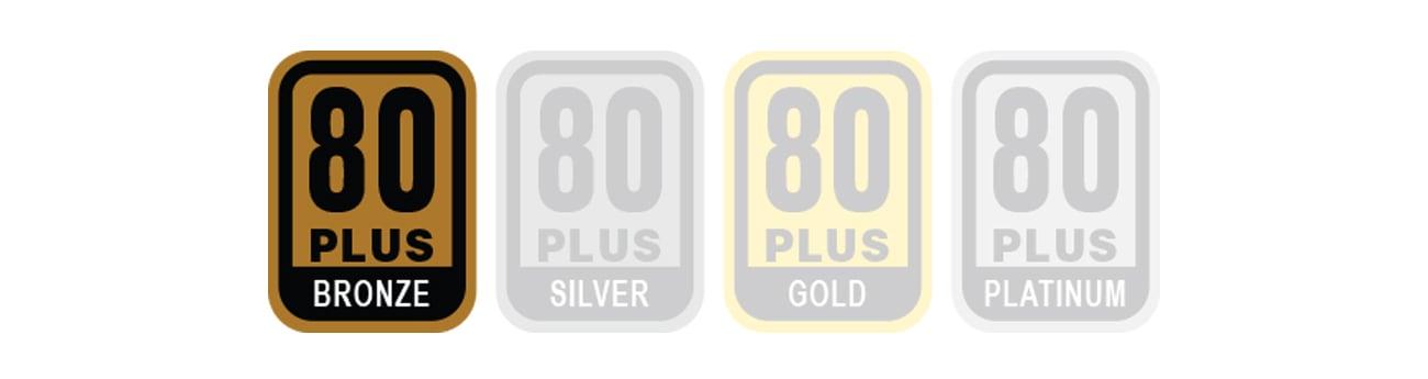 Certyfikat 80 PLUS Bronze