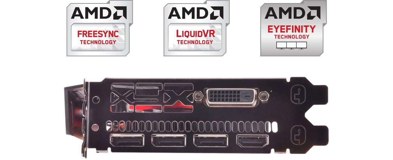 XFX Radeon RX 570 - Złącza, technologie