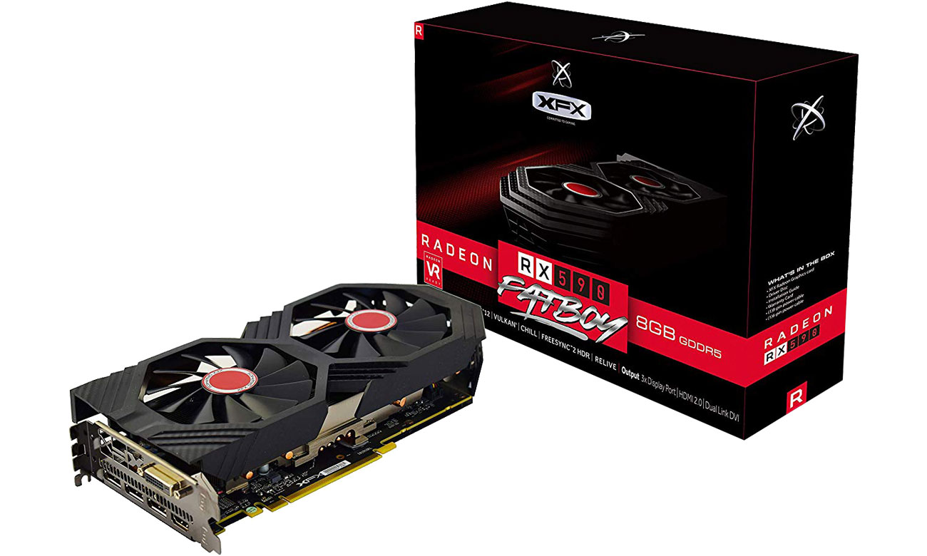 Karta graficzna XFX Radeon RX 590 Fatboy OC+ 8GB GDDR5 RX-590P8DFD6