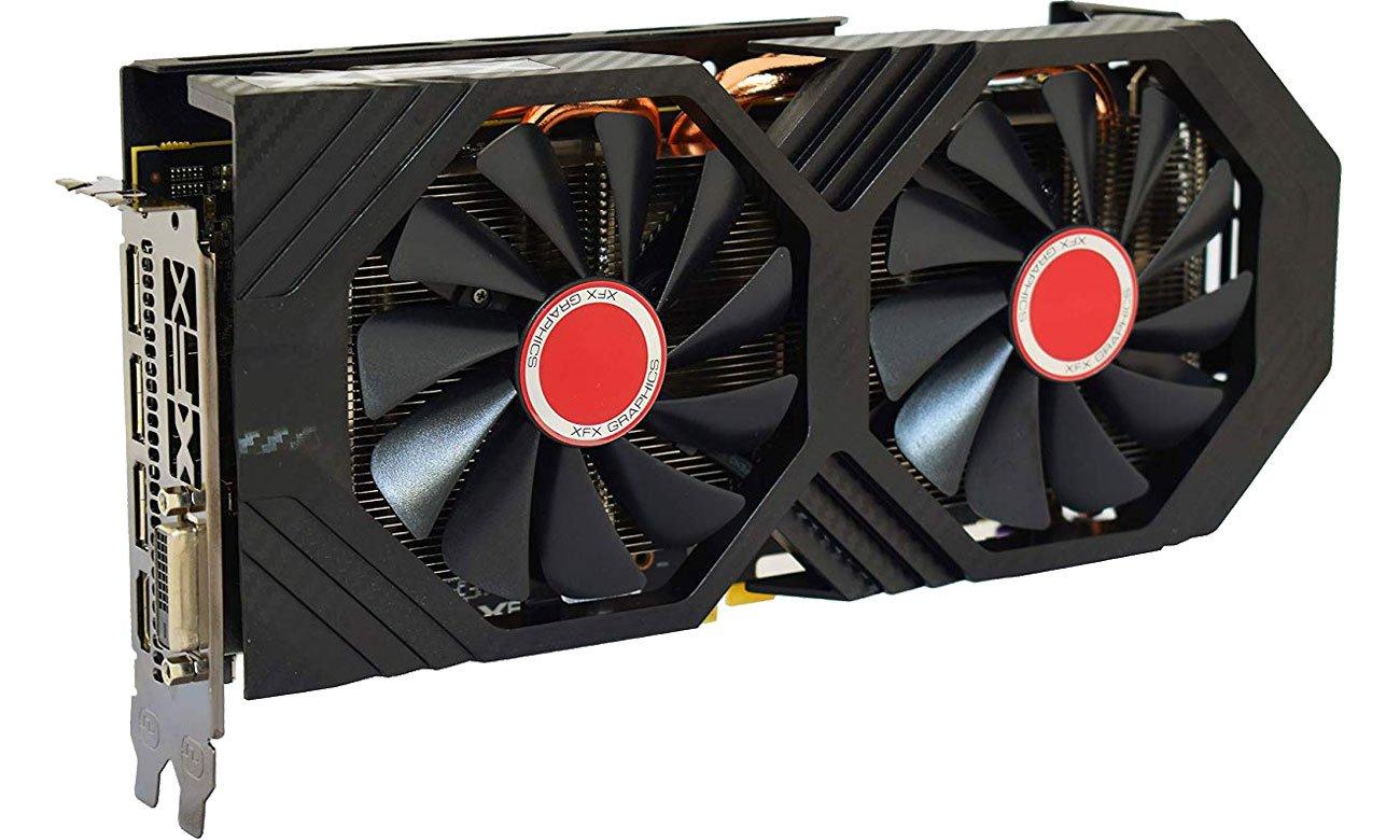 XFX Radeon RX 590 Fatboy OC+ Układ chłodzenia, dwa wentylatory
