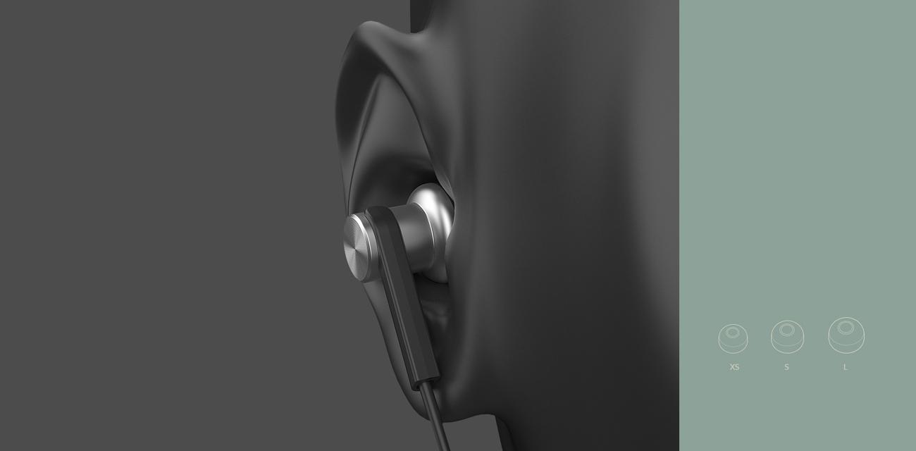 Słuchawki douszne Xiaomi mi in-ear trzy pary wkładek