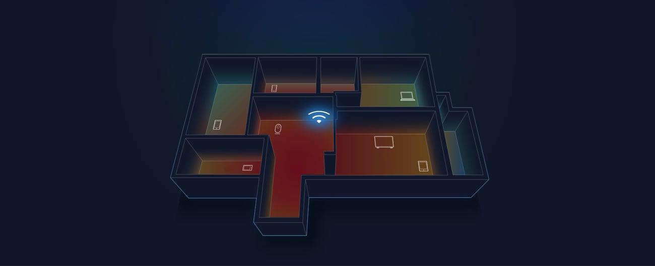 Xiaomi Mi Router 3 pokrycie sygnałem