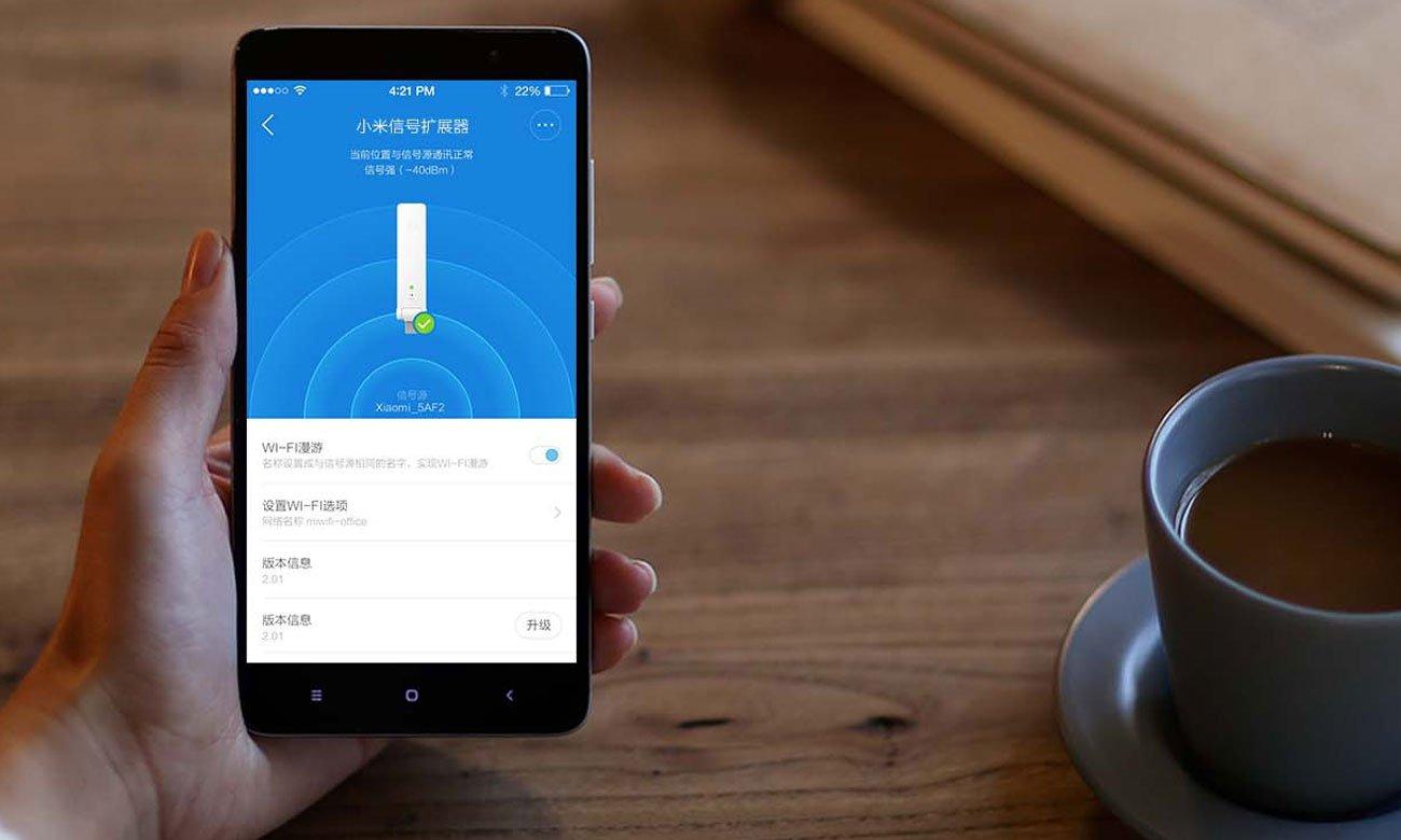 Xiaomi Mi WiFi Repeater 2 Aplikacja Mi Home