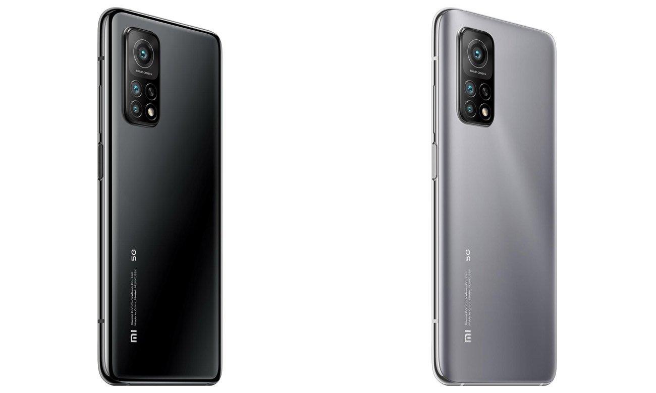Smartfon w kolorze srebrnym Xiaomi Mi 10T