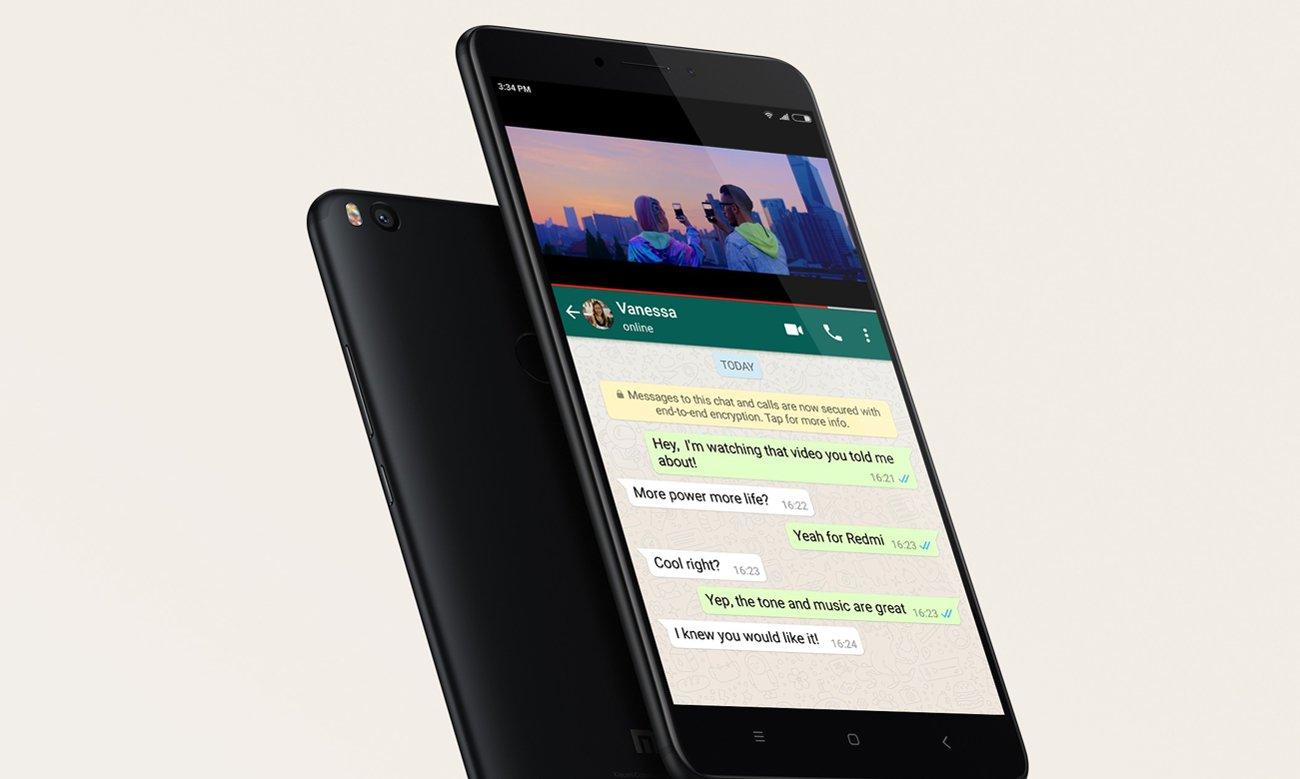 Xiaomi Mi Max 2 tryb podzielonego ekranu
