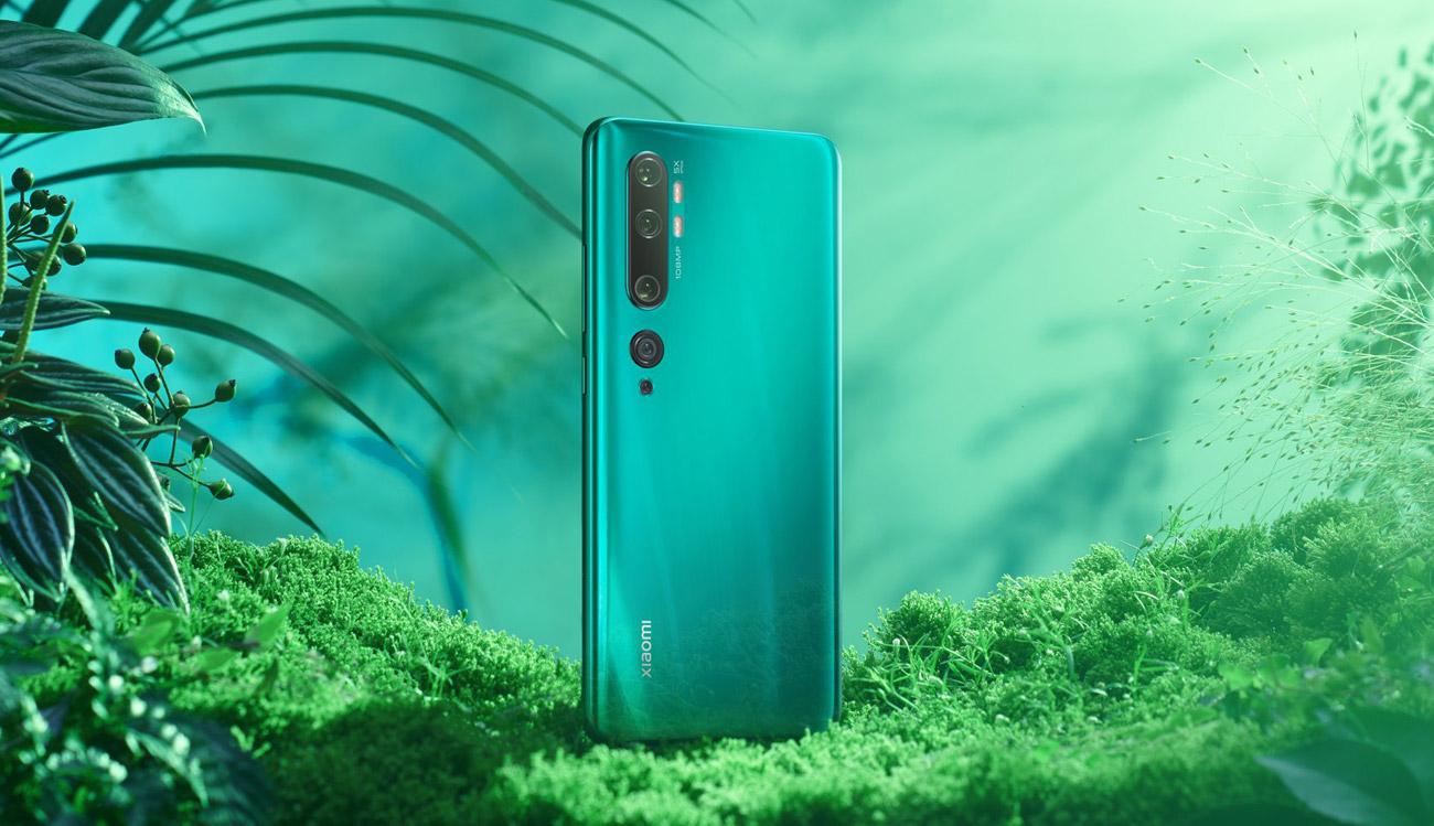 Xiaomi Mi Note 10 Pro elegancka konstrukcja z zakrzywionego szkła i metalu