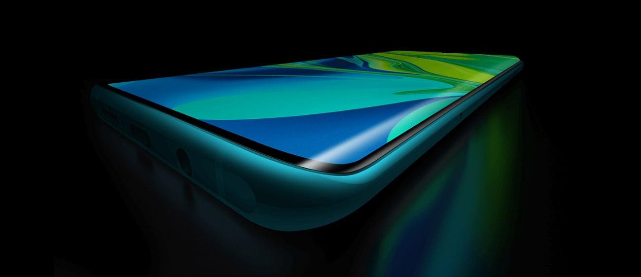 Xiaomi Mi Note 10 Pro zakrzywiony panoramiczny ekran amoled z czytnikiem linii papilarnych