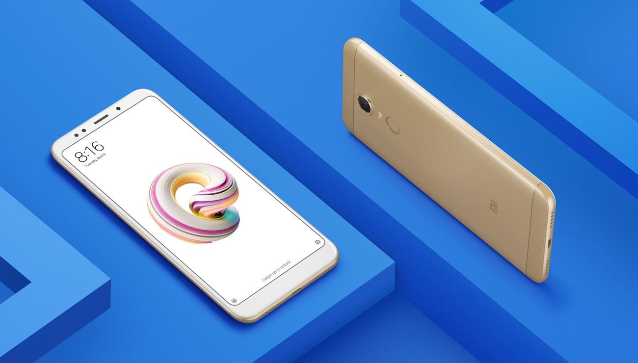 złoty Xiaomi Redmi 5 Plus aluminowa konstrukcja