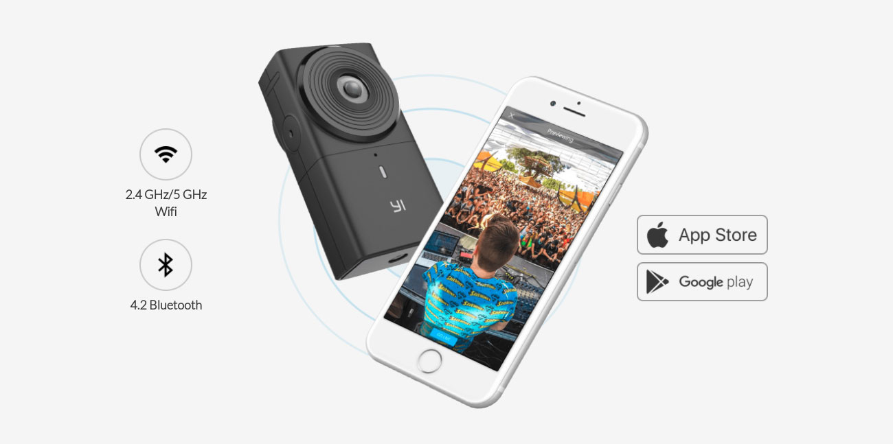 Yi 360 VR Camera Wi-Fi Bluetooth