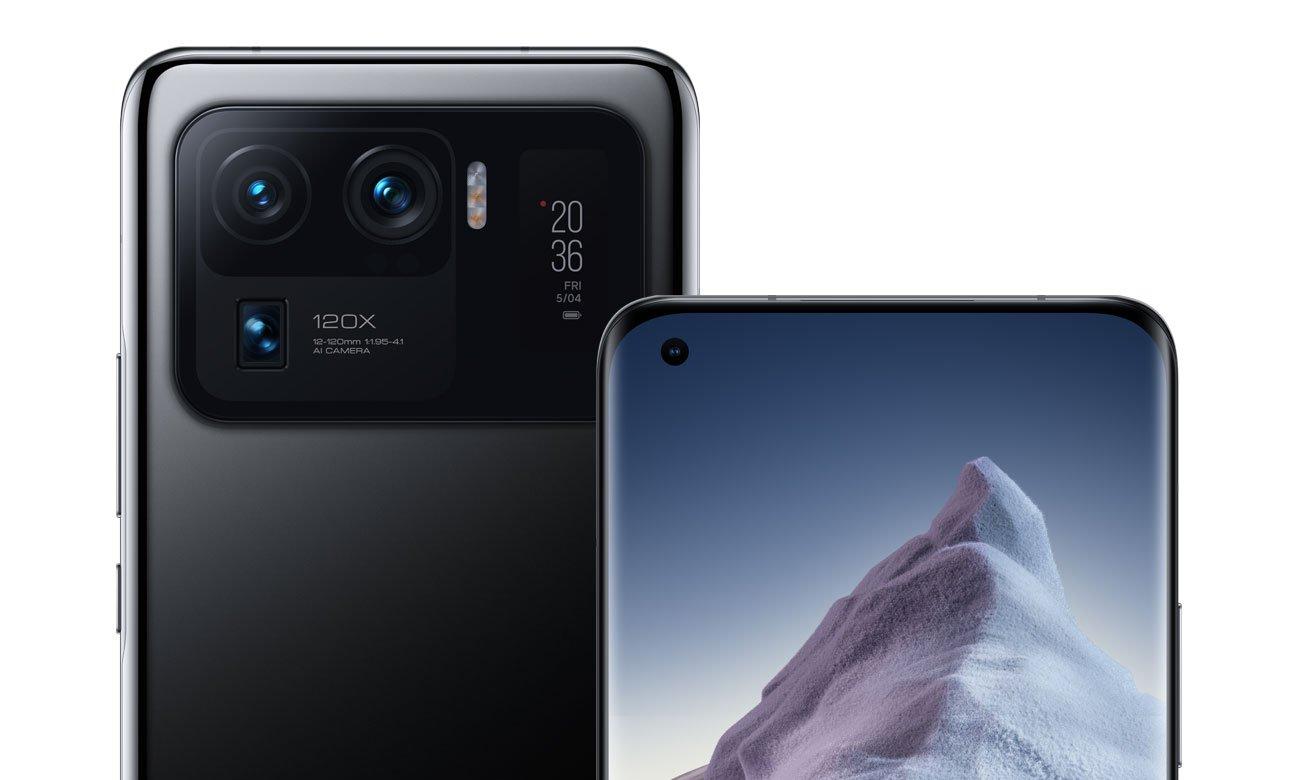 Xiaomi Mi 11 Ultra 5G 256 GB czarny ekran i aparat do selfie