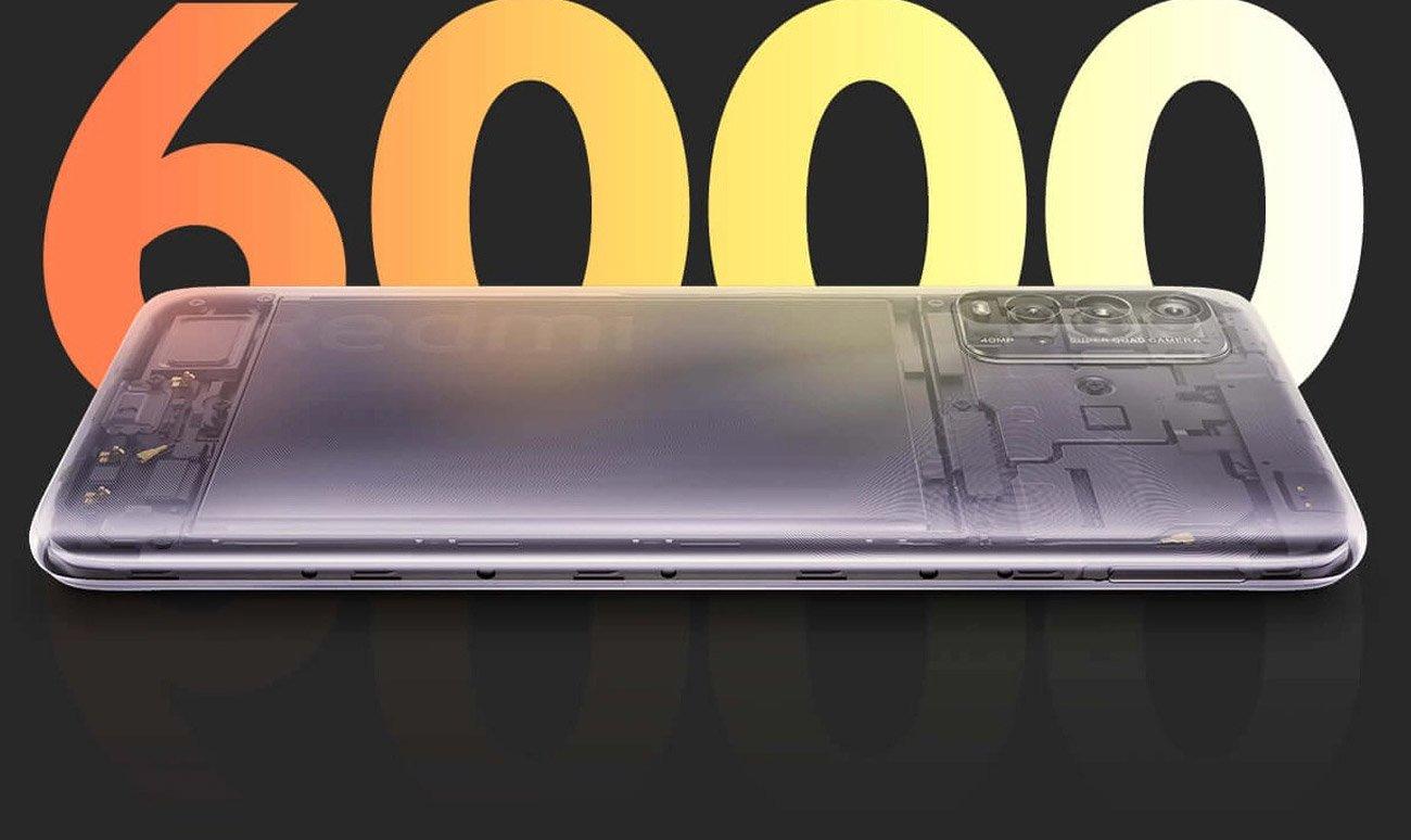 Funkcja szybkiego ładowania i bateria o pojemności 6000 mAh
