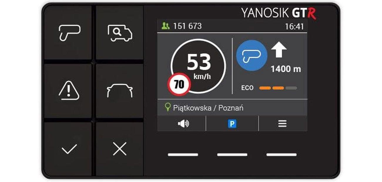 Antyradar Yanosik GTR S-Clusive