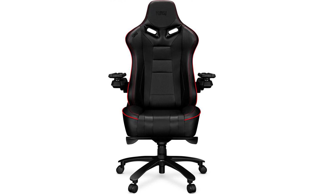 Fotel gamingowy Yumisu 2049 Czarno-czerwony