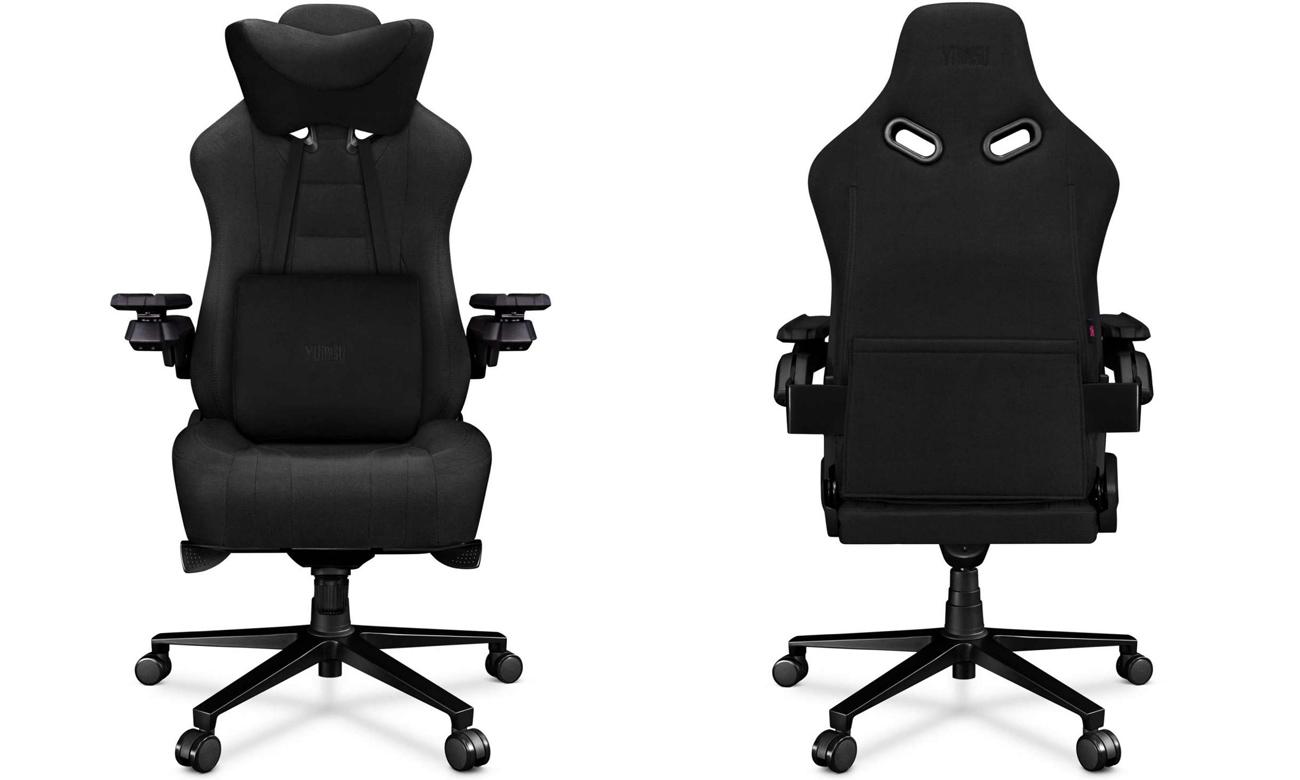 Fotel gamigowy Yumisu 2049 Czarny Tkanina