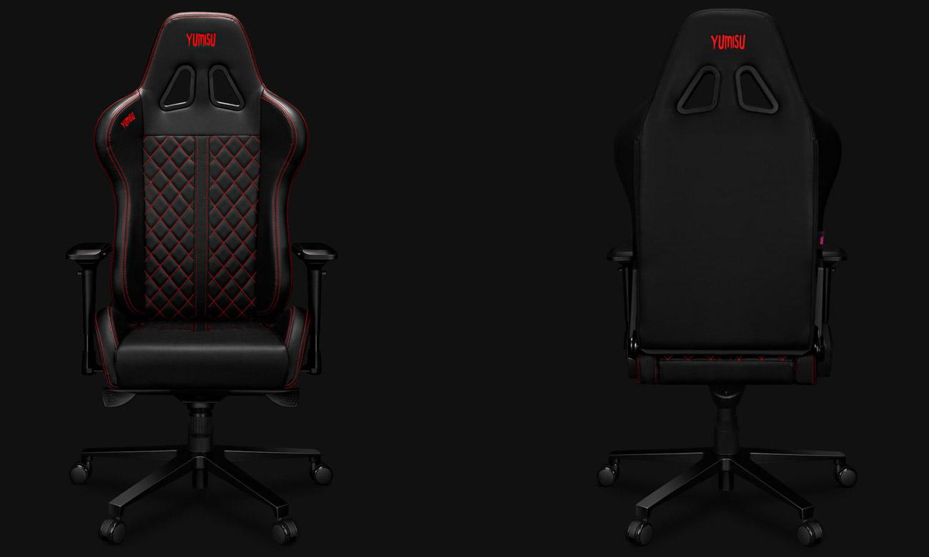 Fotel gamingowy Yumisu 2050 Czarno-czerwony