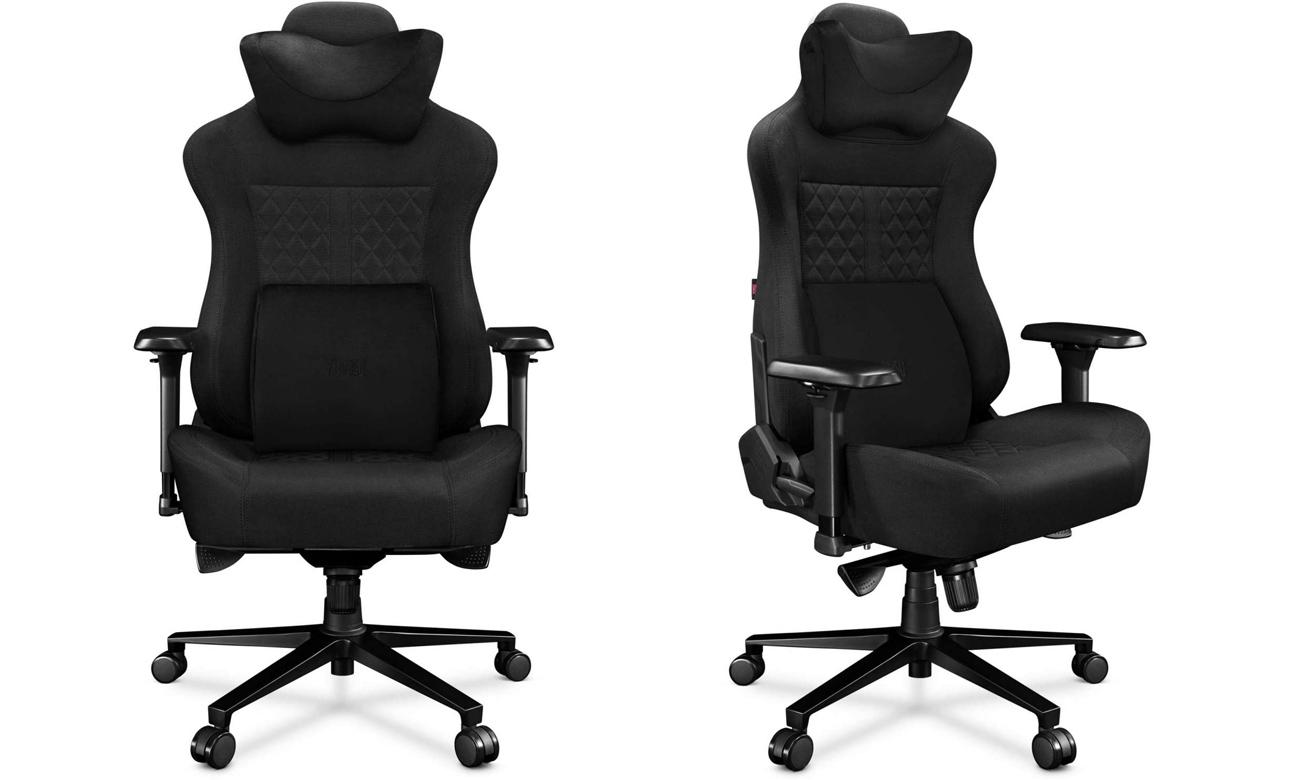 Fotel gamingowy Yumisu 2052 Czarny Tkanina