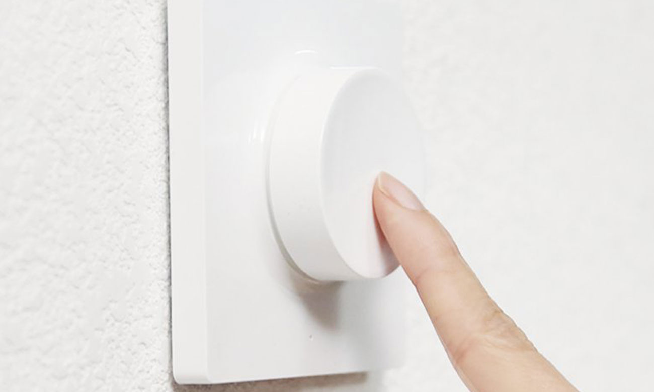 Przycisk wireless smart dimmer YLKG07YL przyciśnięcie