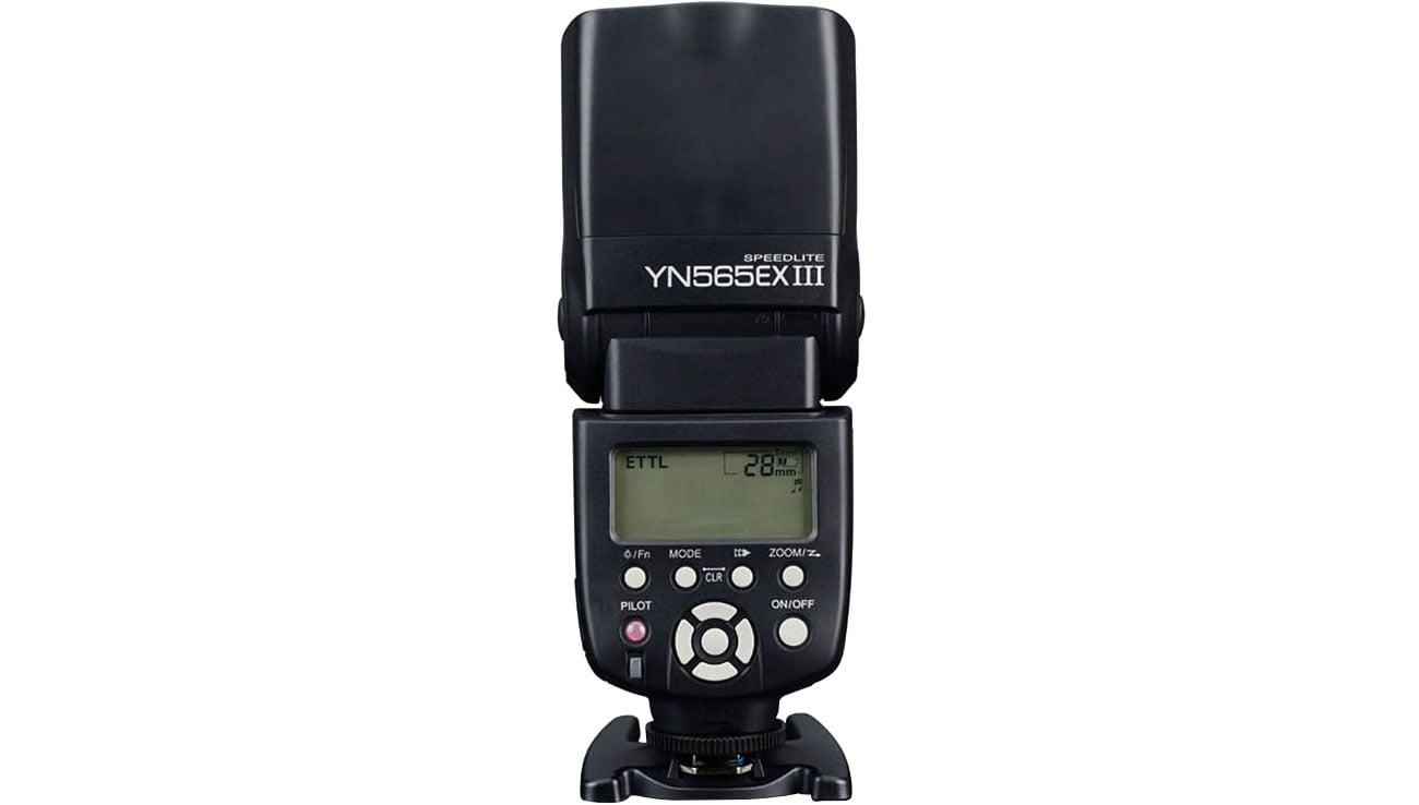 Yongnuo YN-565EX III Wyświetlacz LCD, przyciski