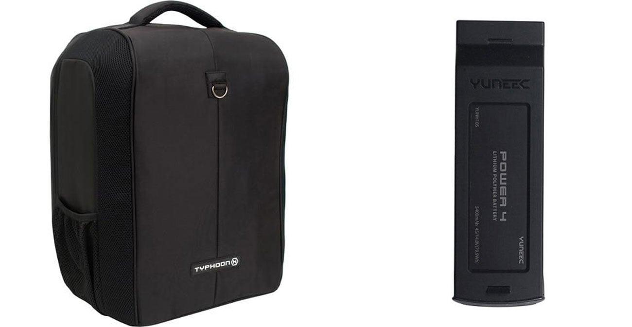 W zestawie plecak oraz dodatkowy akumulator