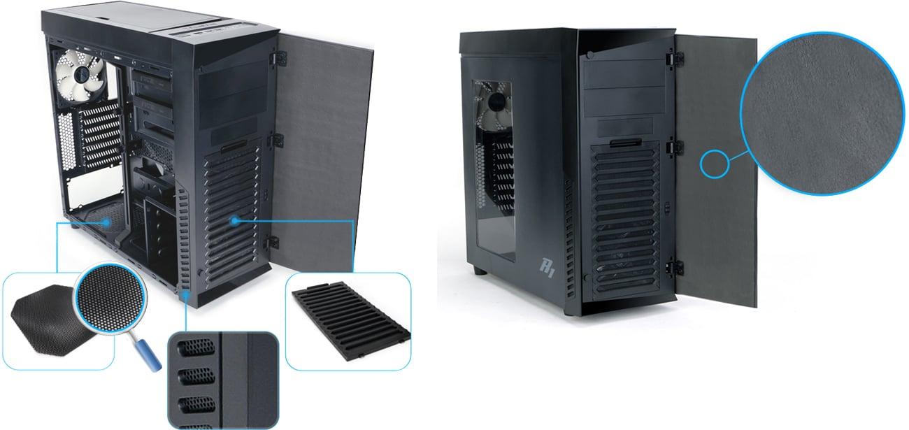 Zalman R1 czarna USB 3.0 wygłuszenie i fltry