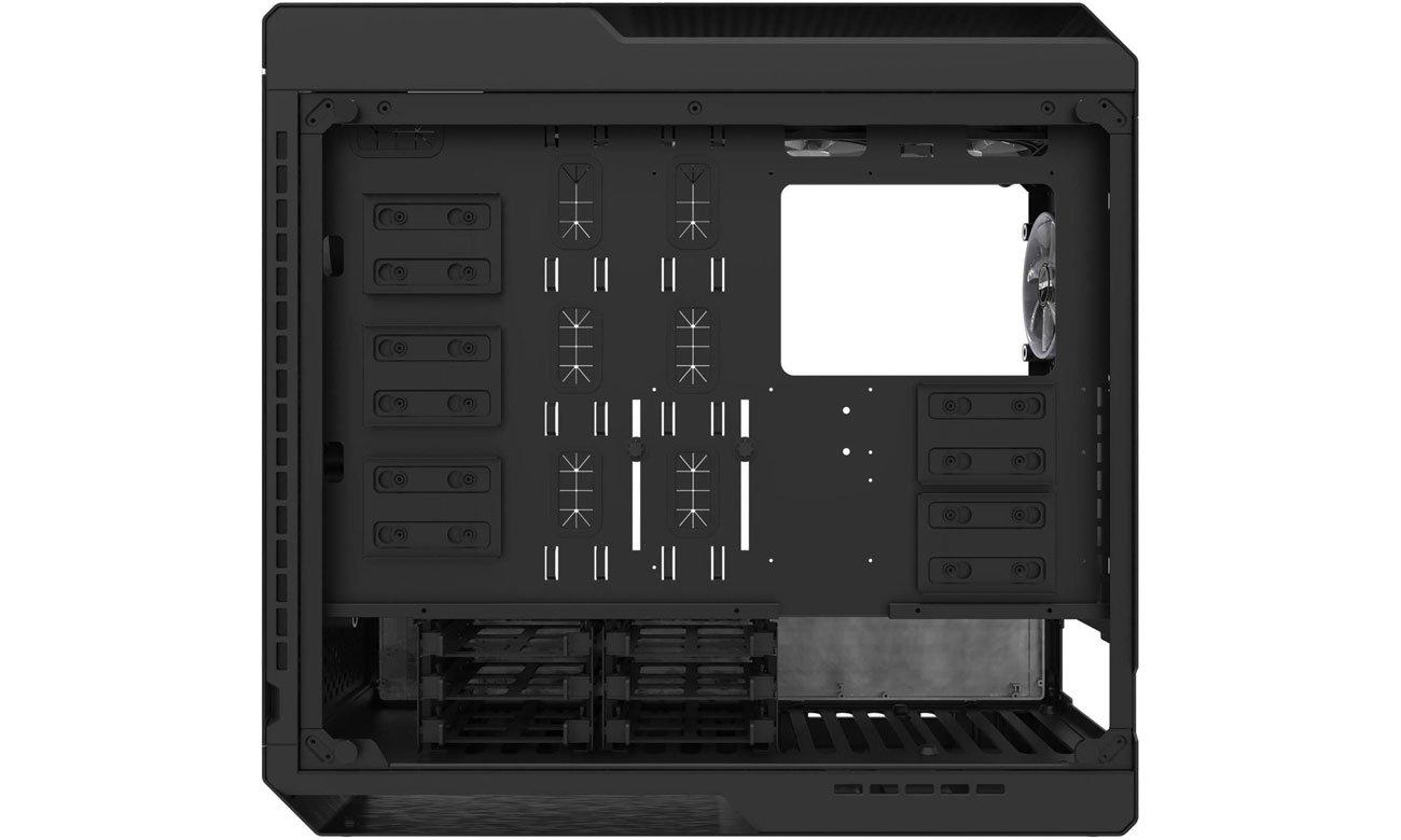 Zalman X7 Miejsca montażowe na dyski HDD i SSD