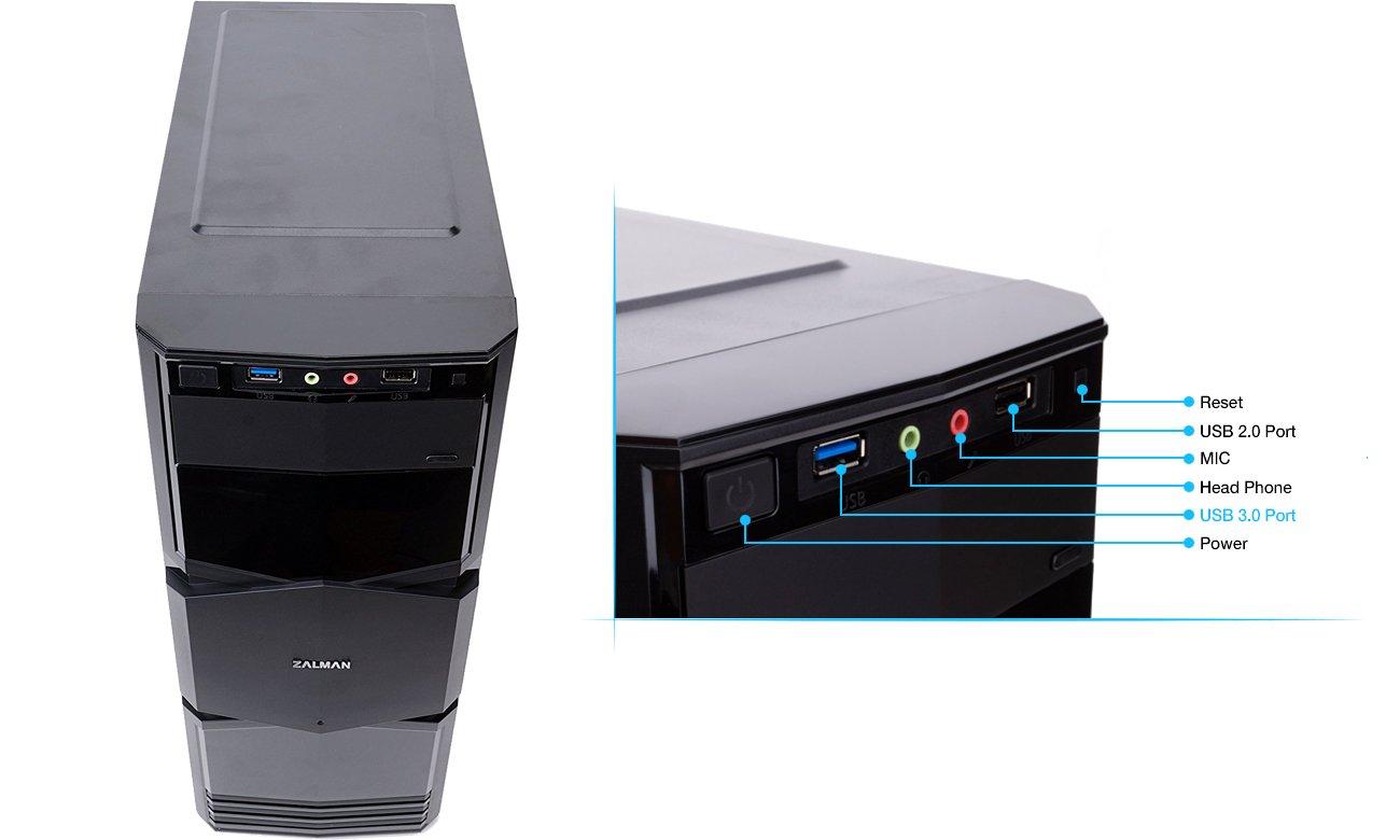 Obudowa komputerowa Zalman ZM-T3 - USB 3.0