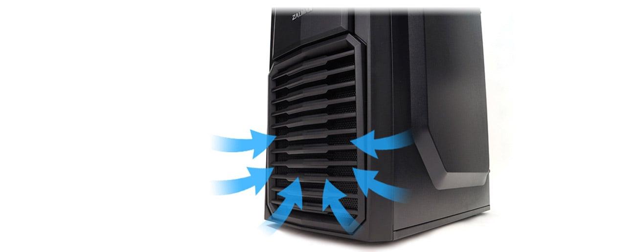 Zalman ZM-T4 czarna USB 3.0 okablowanie