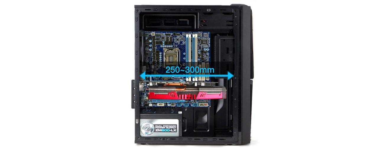 Zalman ZM-T4 czarna USB 3.0 montaż karty graficznej