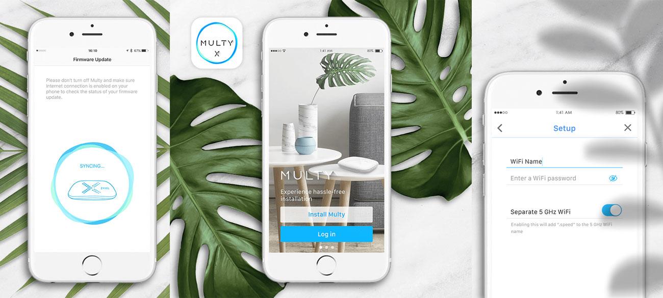 System Wi-Fi Zyxel Multy X Mesh Aplikacja
