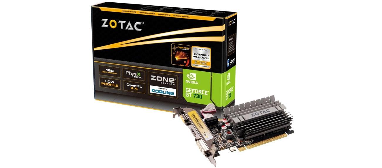 Karta graficzna NVIDIA Zotac GeForce GT 730 ZONE Edition Low Profile 2GB DDR3 ZT-71113-20L