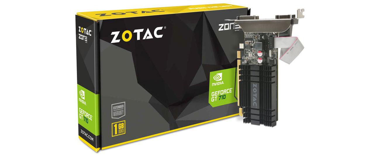Karta graficzna NVIDIA Zotac GeForce GT 710 ZONE Edition 1GB DDR3 ZT-71301-20L