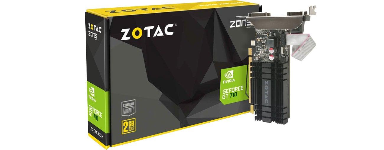 Karta graficzna NVIDIA Zotac GeForce GT 710 ZONE Edition 2GB DDR3 ZT-71302-20L