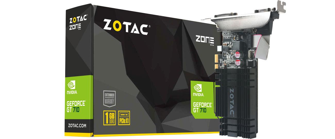 Karta graficzna NVIDIA Zotac GeForce GT 710 1GB DDR3 ZT-71304-20L