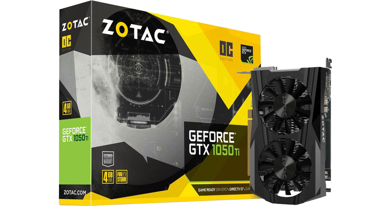Karta graficzna Zotac GeForce GTX 1050 Ti OC 4 GB