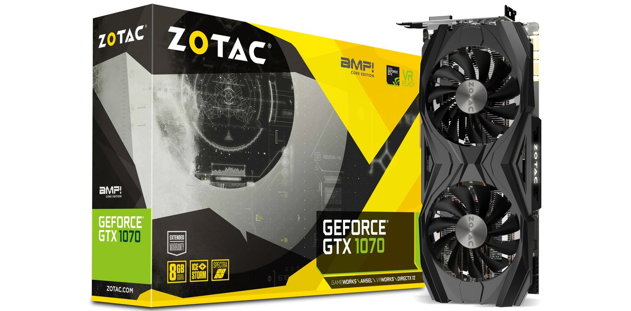 Zotac Geforce GTX 1070 AMP Core Edition 8 GB
